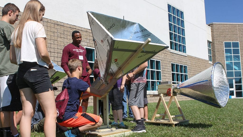 Students design, construct, and test radio telescopes at the Green Bank Observatory under a NSF grant