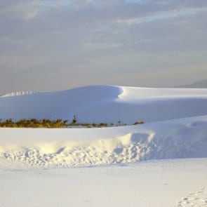 The gypsum sand dunes of White Sands, New Mexico